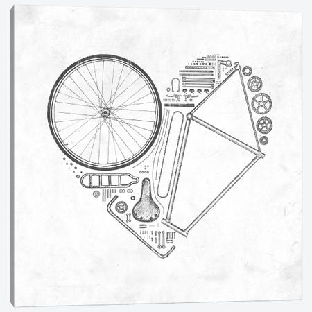 Love Bike 3-Piece Canvas #FLB47} by Florent Bodart Canvas Art
