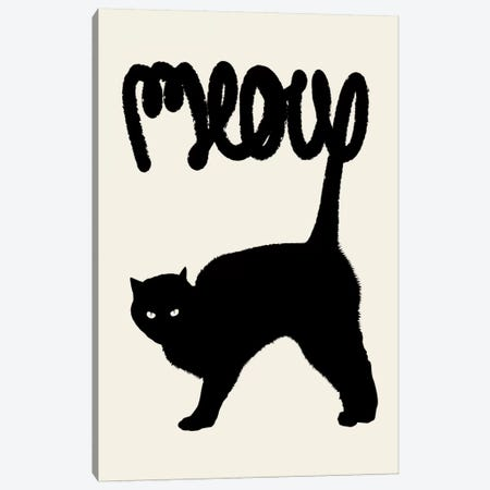 Meow Canvas Print #FLB49} by Florent Bodart Art Print