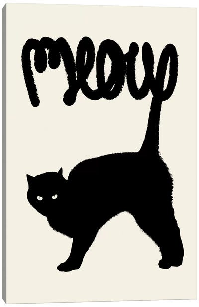 Meow Canvas Art Print