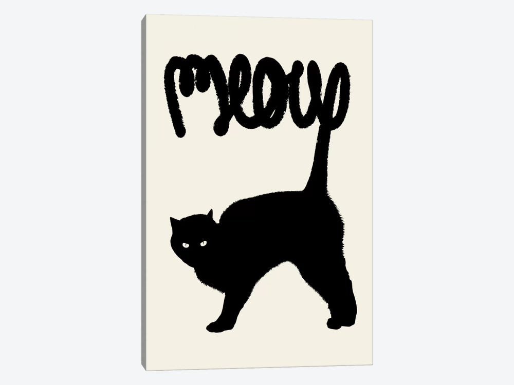 Meow by Florent Bodart 1-piece Canvas Print