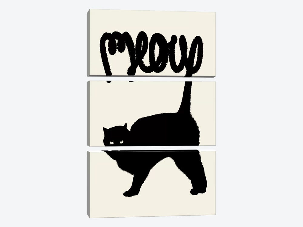 Meow 3-piece Canvas Print