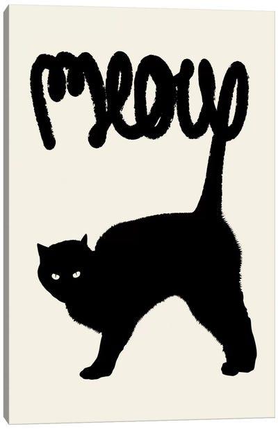 Meow Canvas Art Print