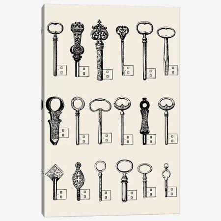 USB Keys Canvas Print #FLB52} by Florent Bodart Canvas Art