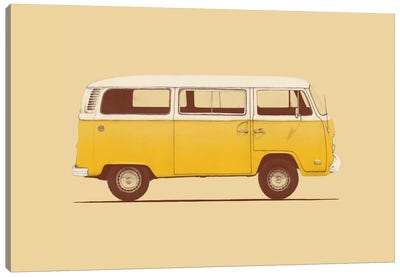 Yellow Van Canvas Art Print