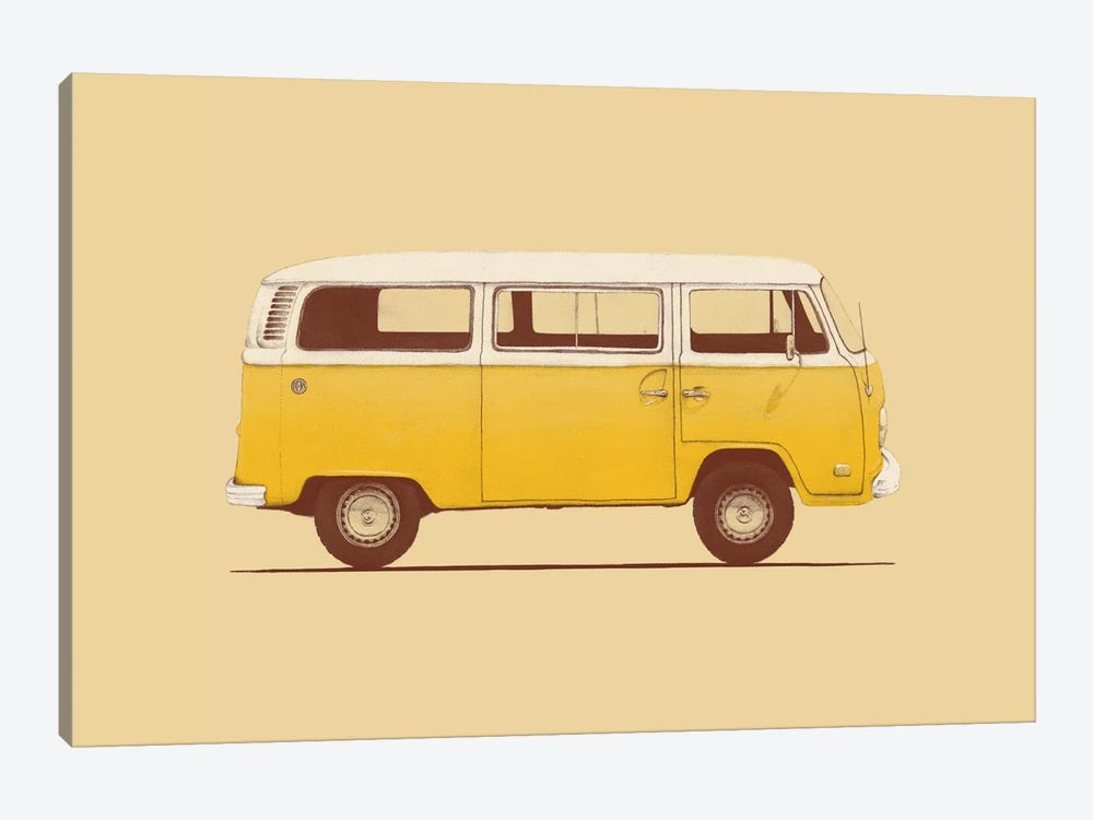 Yellow Van by Florent Bodart 1-piece Canvas Artwork