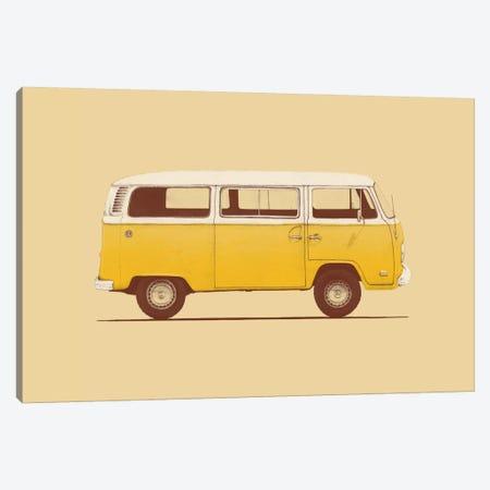 Yellow Van Canvas Print #FLB57} by Florent Bodart Art Print