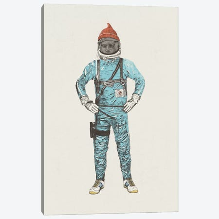 Zissou In Space Canvas Print #FLB59} by Florent Bodart Canvas Art