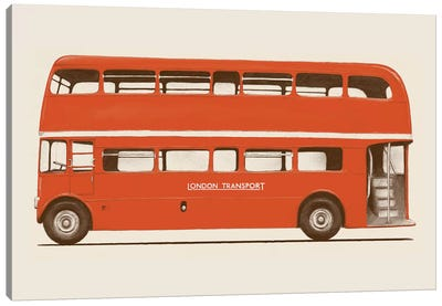 English Bus (London Transport Double-Decker) Canvas Art Print