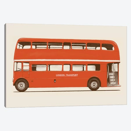 English Bus (London Transport Double-Decker) Canvas Print #FLB62} by Florent Bodart Art Print