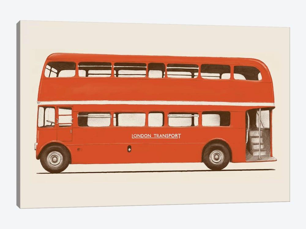 English Bus (London Transport Double-Decker) by Florent Bodart 1-piece Canvas Artwork
