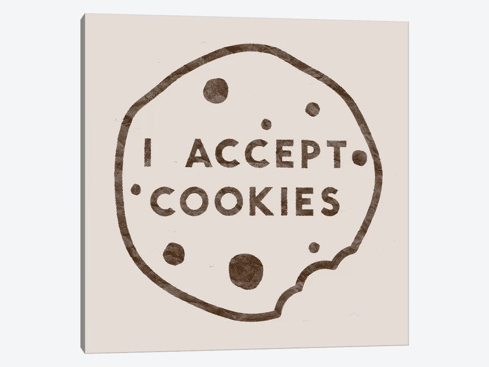 I Accept Cookies by Florent Bodart 1-piece Canvas Artwork