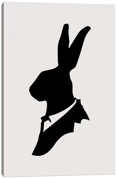 Monsieur Lapin Canvas Art Print
