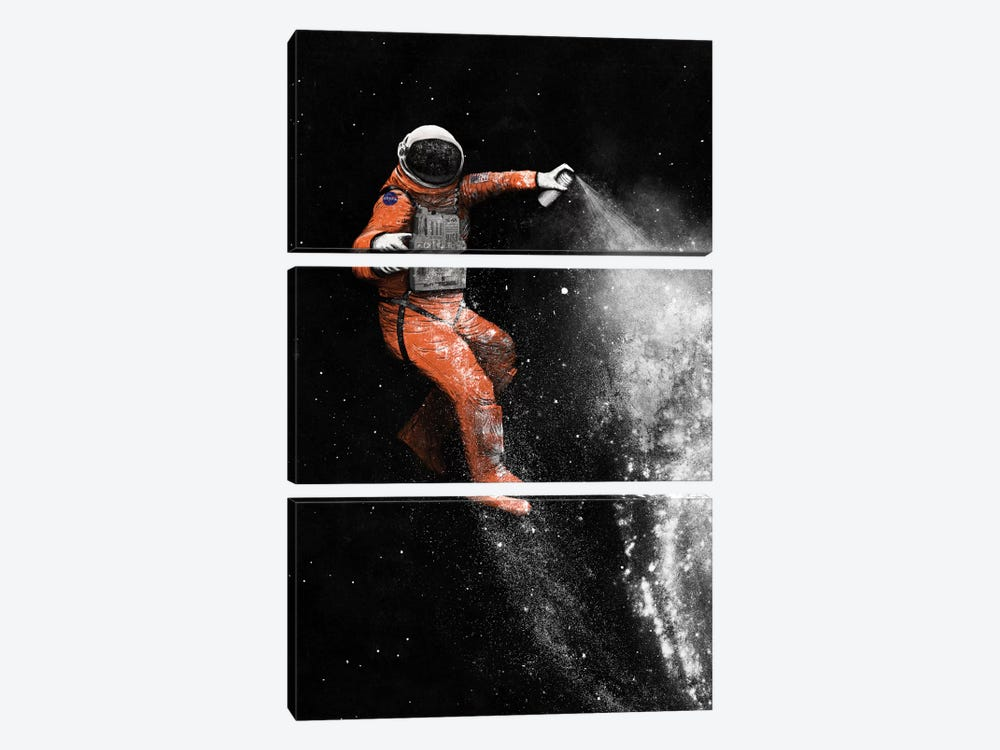Astronaut by Florent Bodart 3-piece Canvas Art Print