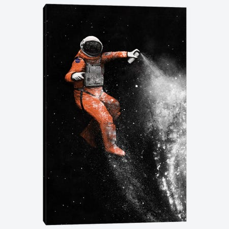 Astronaut Canvas Print #FLB6} by Florent Bodart Canvas Art