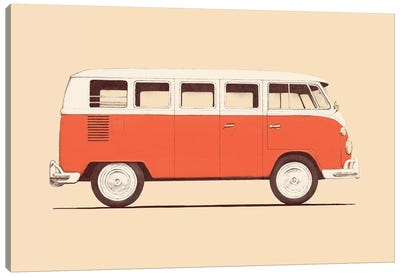 Red Van Canvas Art Print