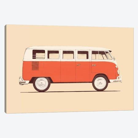 Red Van Canvas Print #FLB71} by Florent Bodart Canvas Art