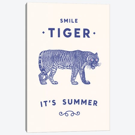 Smile Tiger, Summer Is Here Canvas Print #FLB72} by Florent Bodart Canvas Artwork