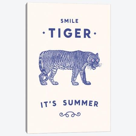 Smile Tiger, Summer Is Here Canvas Print #FLB72} by Florent Bodart Canvas Artwork