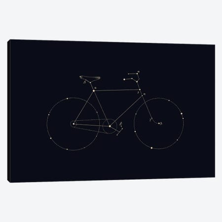Bike Constellation Canvas Print #FLB76} by Florent Bodart Art Print
