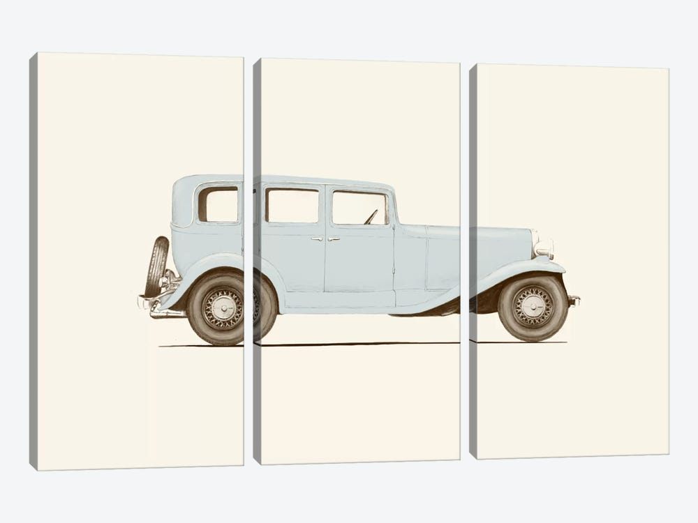 1930s Car by Florent Bodart 3-piece Canvas Artwork