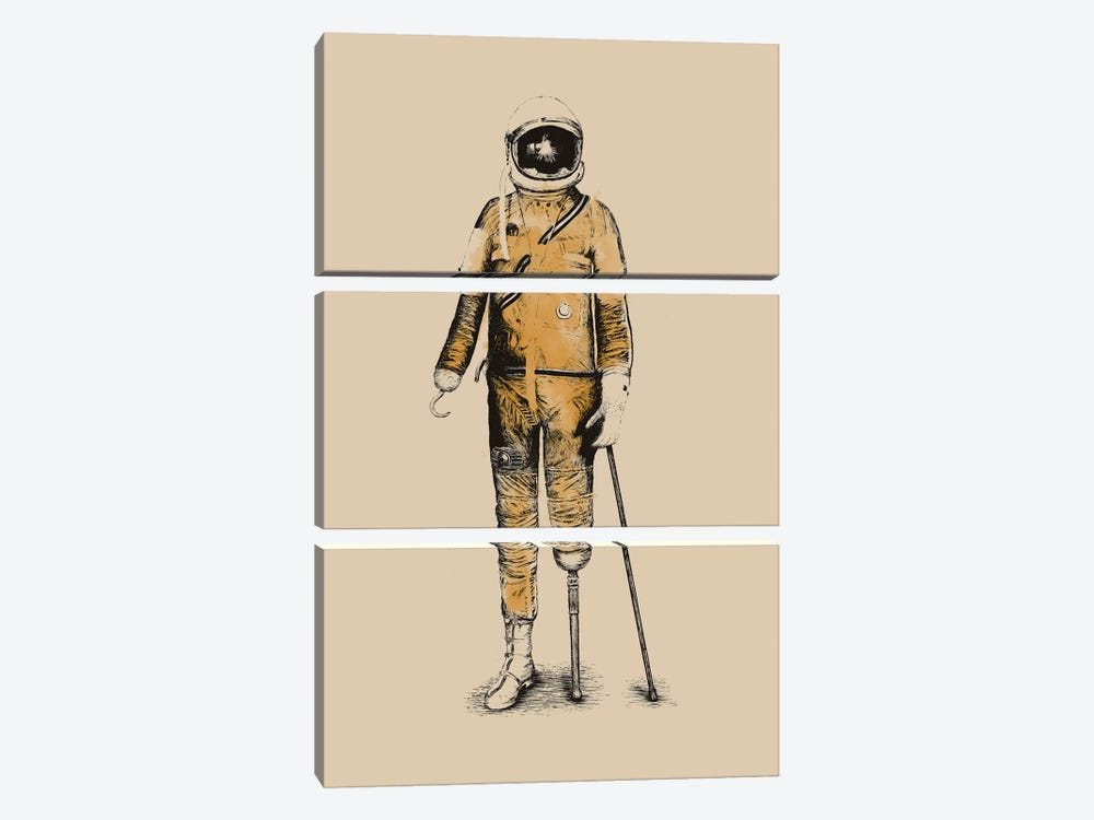 Astropirate by Florent Bodart 3-piece Canvas Wall Art