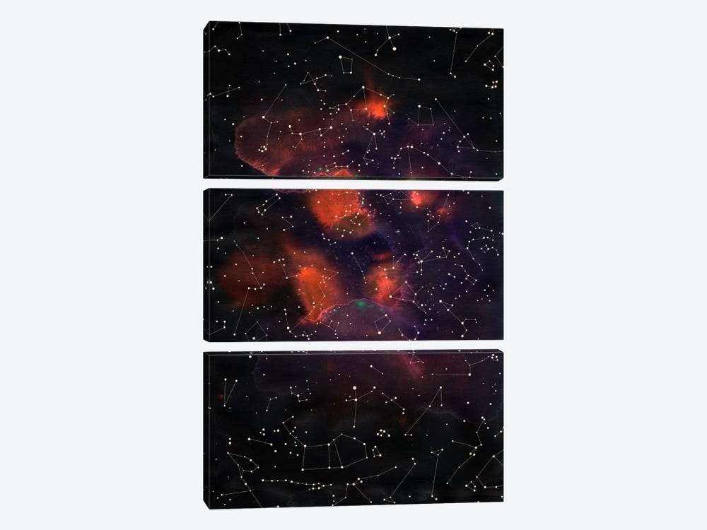 Le Cosmos by Florent Bodart 3-piece Canvas Art