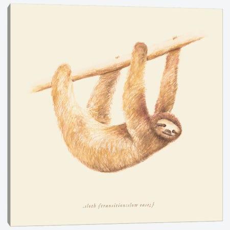 Sloth Canvas Print #FLB81} by Florent Bodart Canvas Print