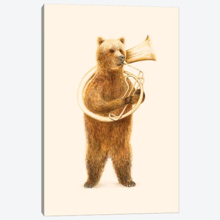 The Bear And His Helicon Canvas Print #FLB83} by Florent Bodart Art Print