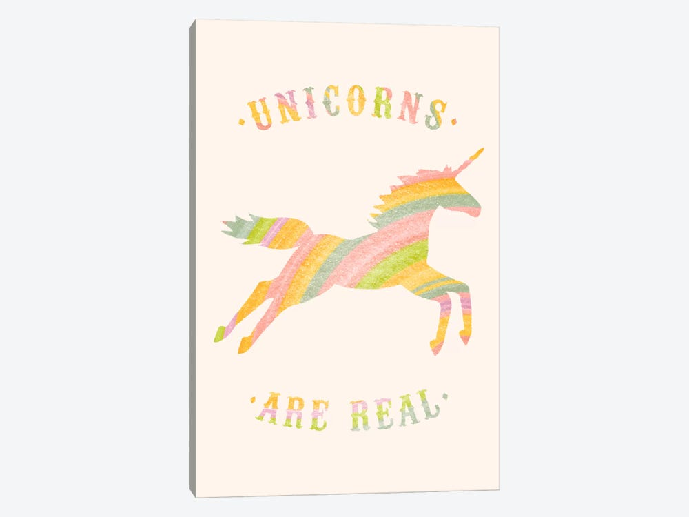 Unicorns Are Real, Color by Florent Bodart 1-piece Canvas Artwork