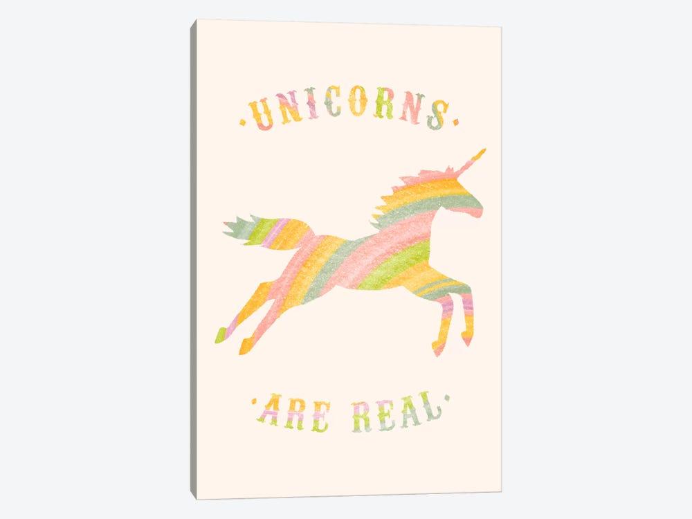 Unicorns Are Real, Color by Florent Bodart 1-piece Canvas Artwork