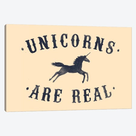 Unicorns Are Real, B&W Canvas Print #FLB85} by Florent Bodart Canvas Artwork