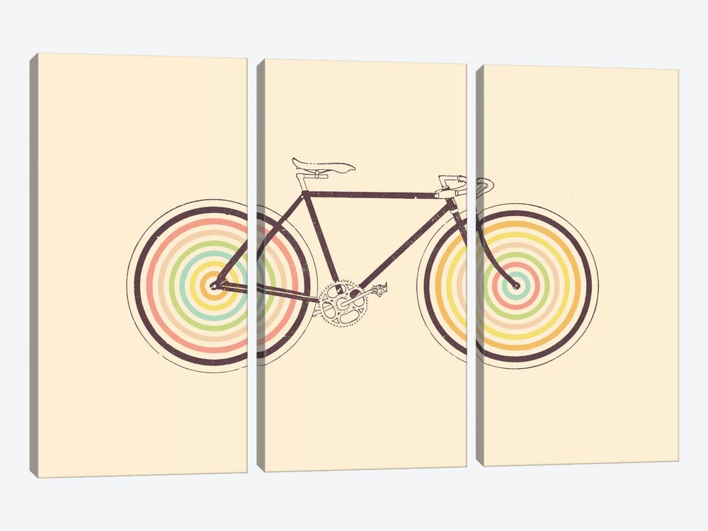 Velocolor by Florent Bodart 3-piece Canvas Wall Art