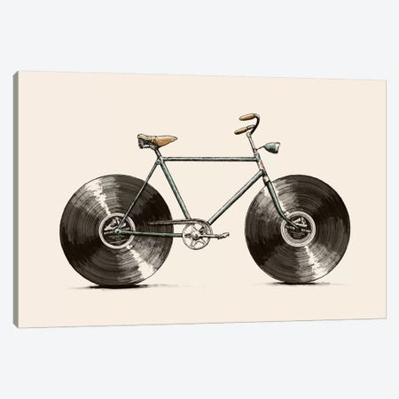 Velophone Canvas Print #FLB87} by Florent Bodart Canvas Wall Art
