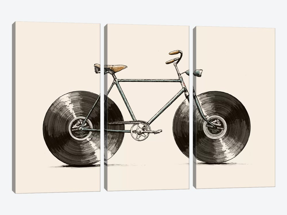 Velophone by Florent Bodart 3-piece Canvas Print