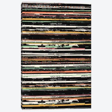 Recordsss Canvas Print #FLB93} by Florent Bodart Canvas Wall Art