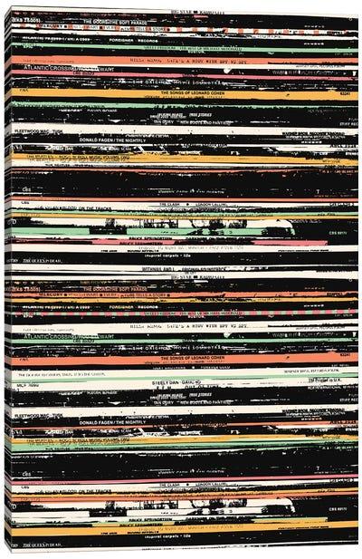 Recordsss Canvas Art Print