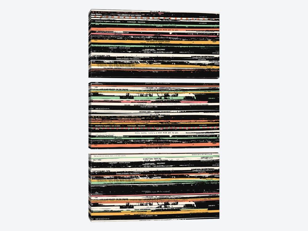 Recordsss by Florent Bodart 3-piece Canvas Wall Art