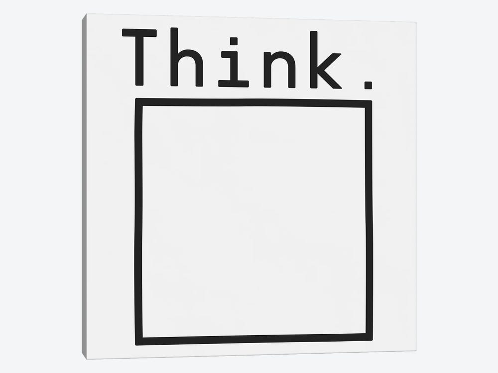 Think. by Florent Bodart 1-piece Canvas Wall Art
