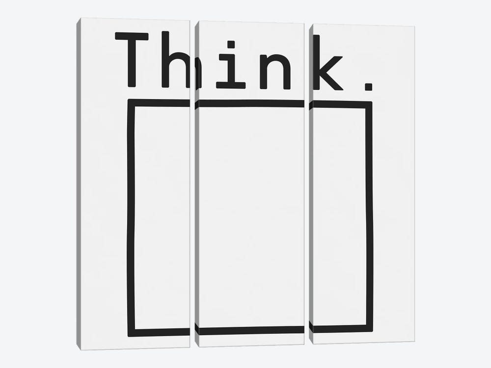 Think. by Florent Bodart 3-piece Canvas Art
