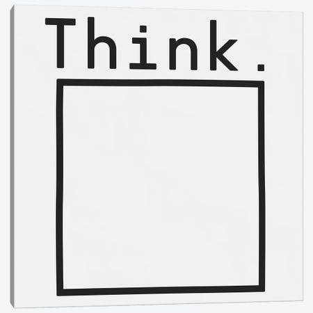 Think. Canvas Print #FLB95} by Florent Bodart Canvas Print