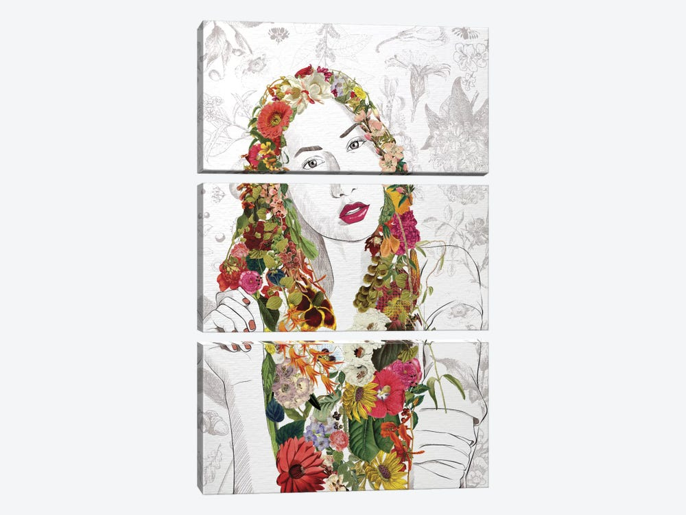 Flower Fairy by 5by5collective 3-piece Canvas Art Print