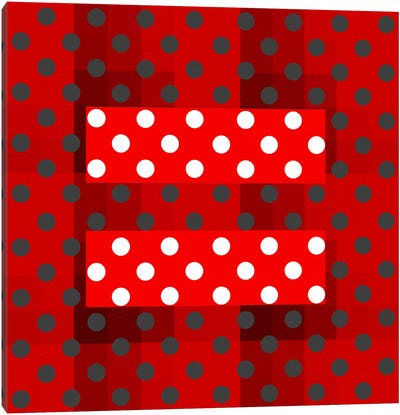 LGBT Human Rights & Equality Flag (Holiday Polka Dots) Canvas Art Print