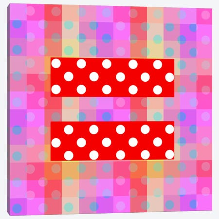 LGBT Human Rights & Equality Flag (Polka Dots) I Canvas Print #FLG101} by iCanvas Art Print