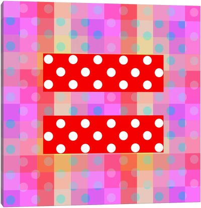 LGBT Human Rights & Equality Flag (Polka Dots) I Canvas Art Print