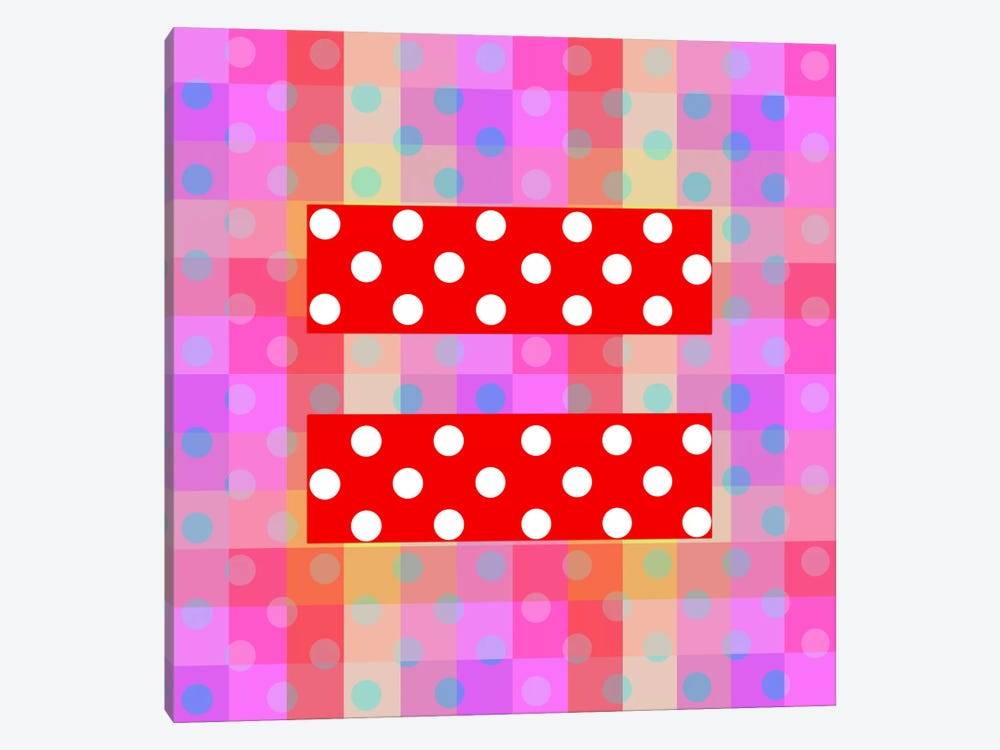 LGBT Human Rights & Equality Flag (Polka Dots) I by iCanvas 1-piece Canvas Wall Art