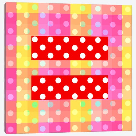LGBT Human Rights & Equality Flag (Polka Dots) II Canvas Print #FLG103} by iCanvas Art Print