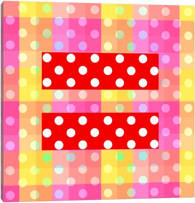 LGBT Human Rights & Equality Flag (Polka Dots) II Canvas Art Print