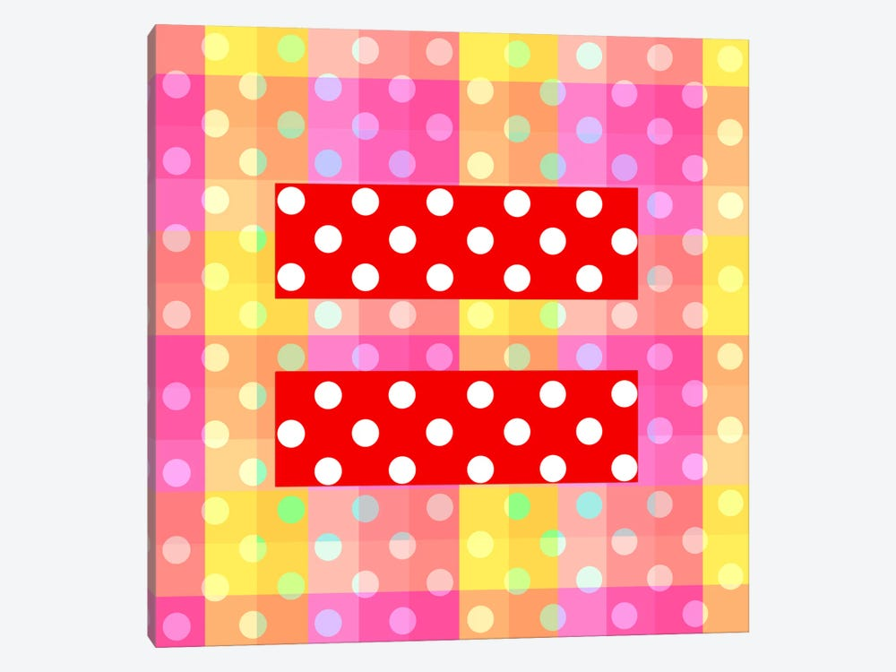 LGBT Human Rights & Equality Flag (Polka Dots) II by iCanvas 1-piece Canvas Art