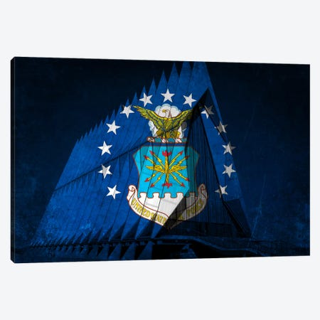 U.S. Air Force Flag (Cadet Chapel Background) Canvas Print #FLG10} by iCanvas Canvas Art Print