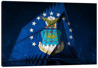 U.S. Air Force Flag (Cadet Chapel Background) Canvas Art Print